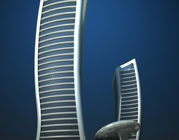 architectural tower designs 3d