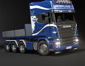 3D model Scania R730 Flatbed Truck Topline