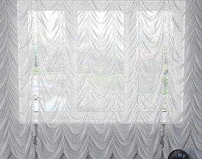 3D model French curtain