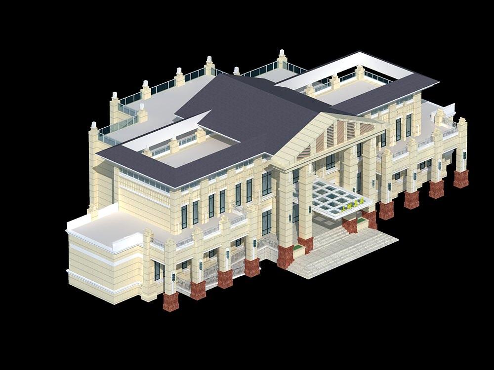 Palatial house 3d model max 3