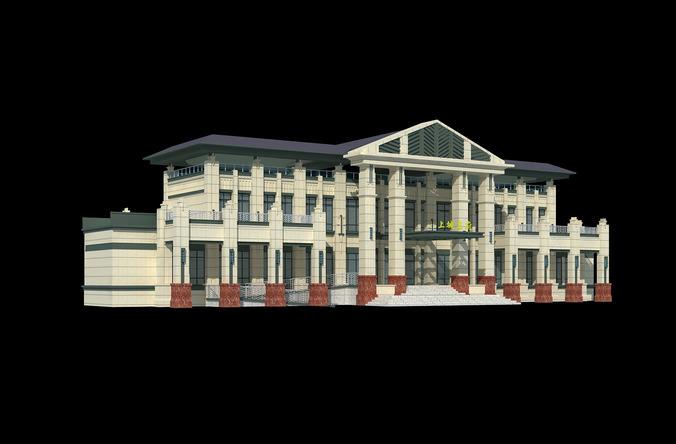 Palatial house 3d model
