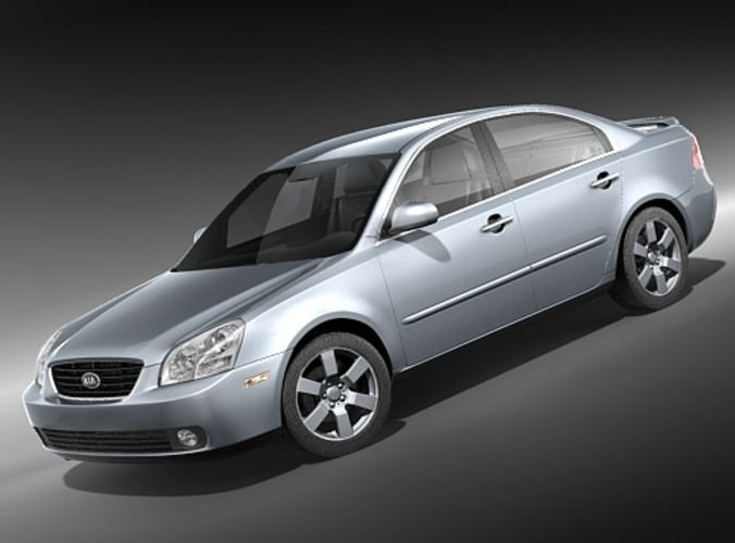 kia optima 2006 3d model max 3ds 1