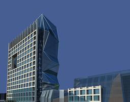 3d model commercial building with designer exterior