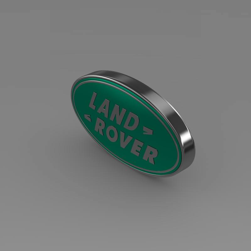 Land Rover Logo 3d Cgtrader