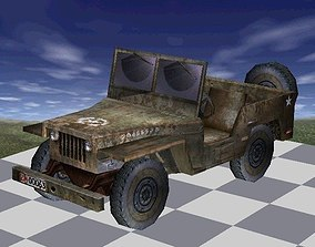 3D model Jeep Truck Textured low-poly