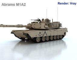 Abrams M1A2 3D model battle