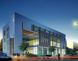 3d model posh shopping mall office