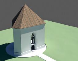 trinity chapel 3d model max obj 3ds fbx dxf dwg