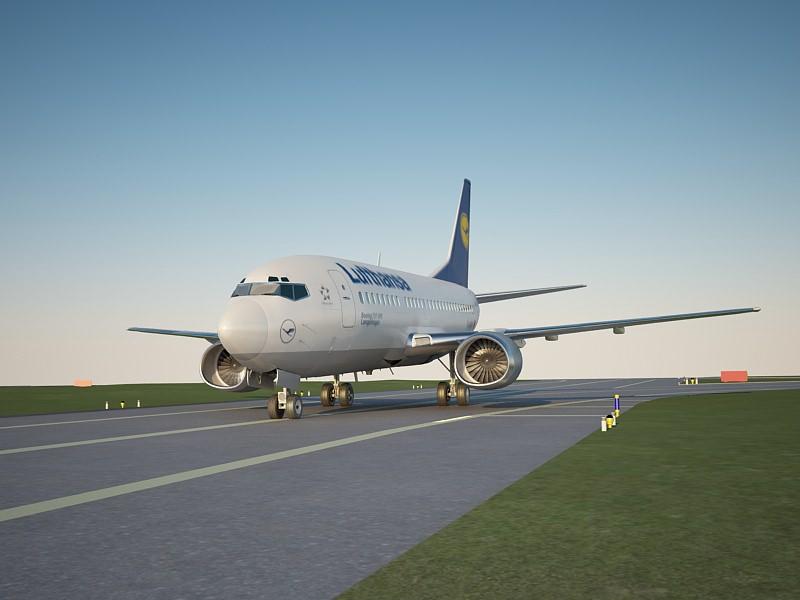 boeing 737 500 lufthansa 3D | CGTrader