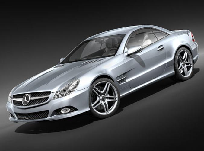 mercedes benz sl 2009 3d model max 3ds 1