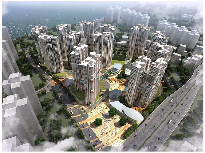 3d building 380 3d model max 1