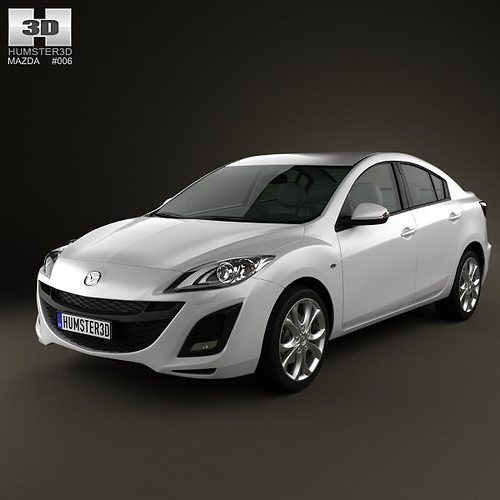 mazda 3 sedan 2011 3d model max obj 3ds fbx c4d lwo lw lws 1
