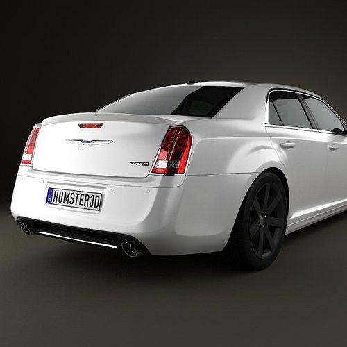 Chrysler 300 SRT8 2012 3D Model MAX OBJ 3DS FBX C4D LWO LW