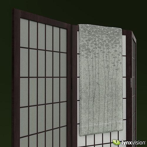 Shoji Rice Paper Screen and Towel