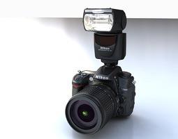 Nikon D7000 plus SB700 3D Model