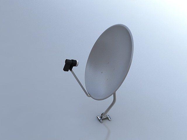 satellite dish 3d model max mat 1