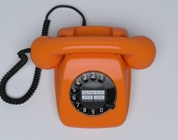 3d model retro telephone fetap 611