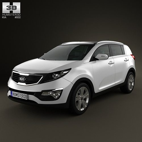 3d kia sportage 2011 cgtrader. Black Bedroom Furniture Sets. Home Design Ideas