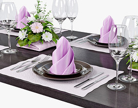 table setting 02 3D