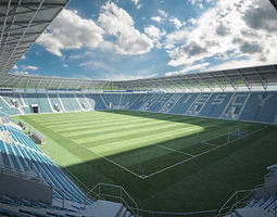 European Football Soccer Stadium 3D model
