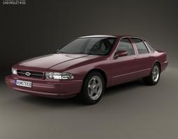 chevrolet impala ss 1995 3d model max obj 3ds fbx c4d lwo lw lws
