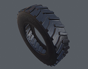 Tractor Tire 3D asset low-poly