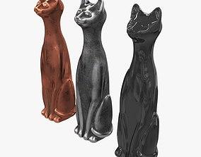 3D asset Highest metal figurines of cats