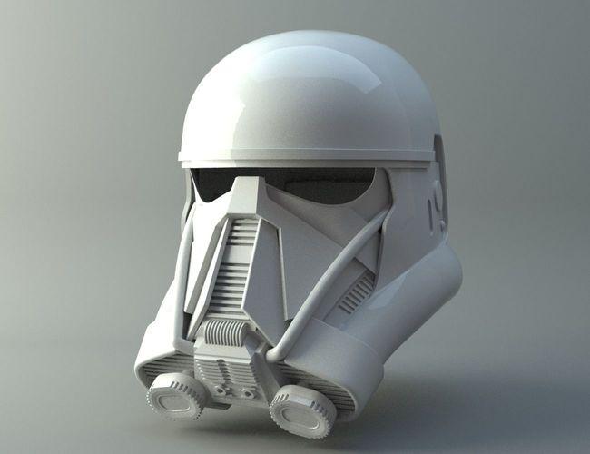 death trooper helmet - star wars  rogue one 3d model obj stl 1