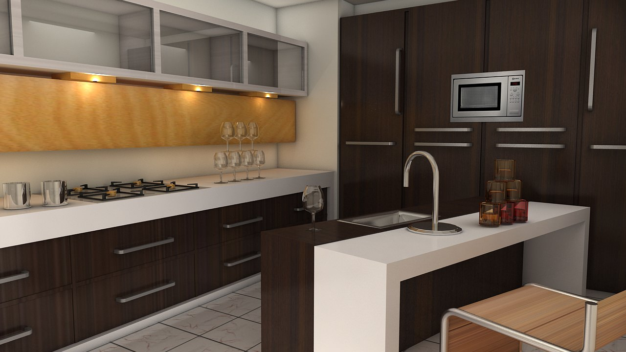 Kitchen 3D Model Magnificent Modular Kitchen 3D Asset  Cgtrader Inspiration
