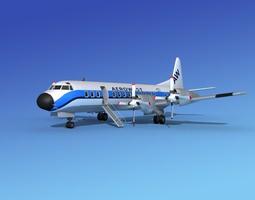 3D Lockheed L-188 Electra HP Aero West