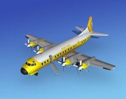 Lockheed L-188 Electra HP Air Sun 3D model