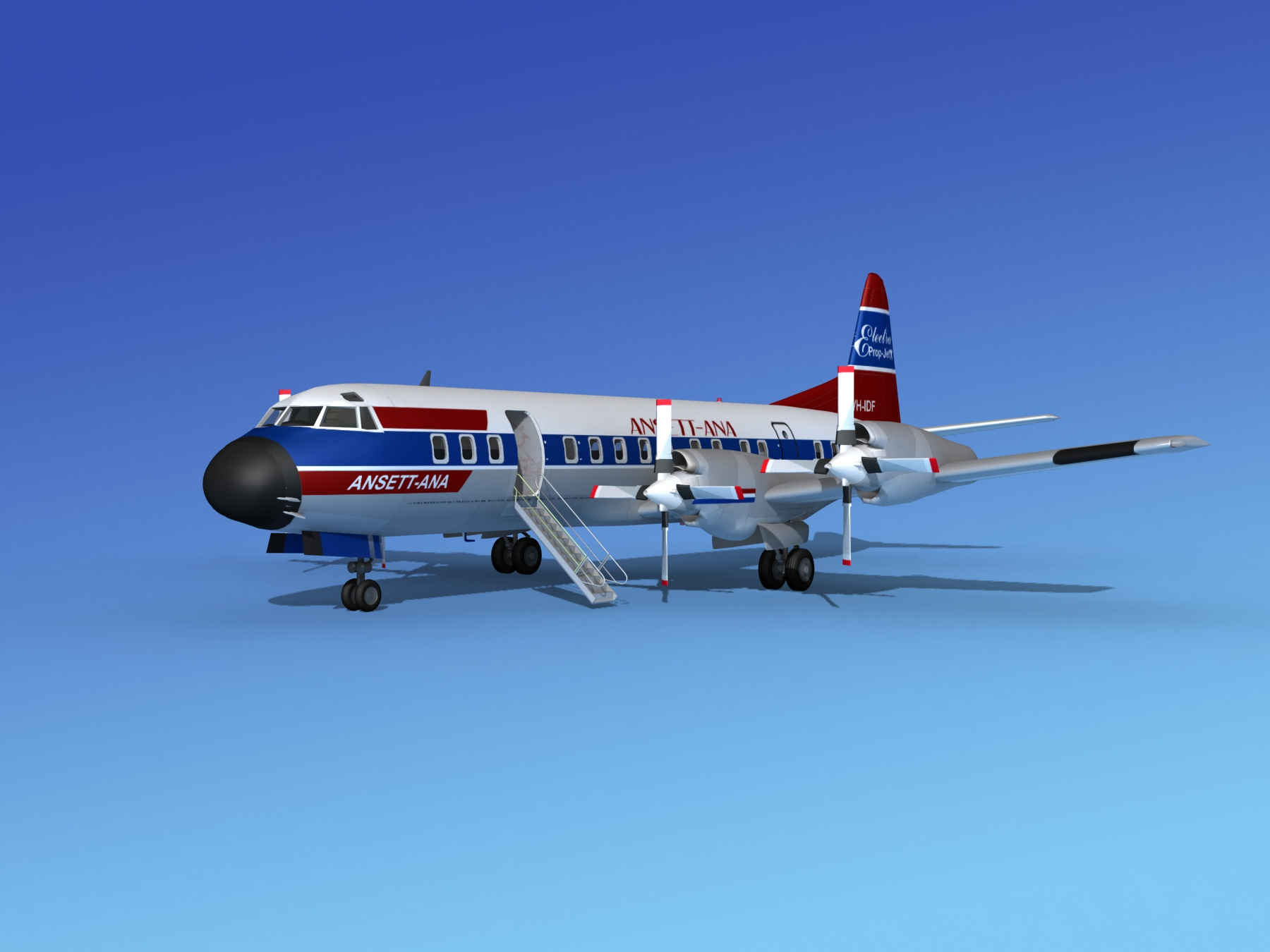 Lockheed L-188 Electra HP Ansett-ANA | 3D model