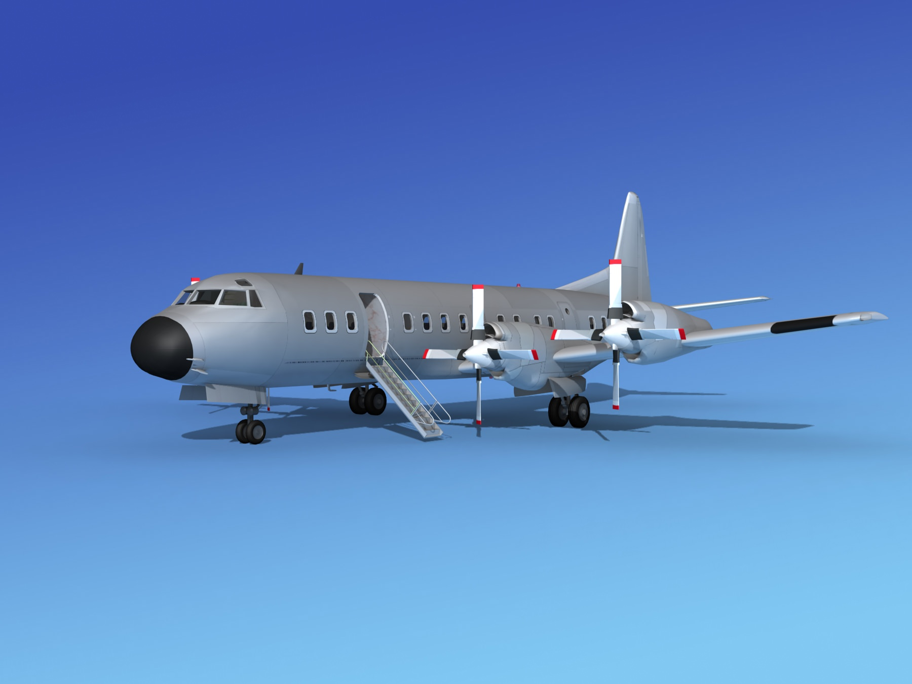 Lockheed L-188 Electra HP Bare Metal | 3D model
