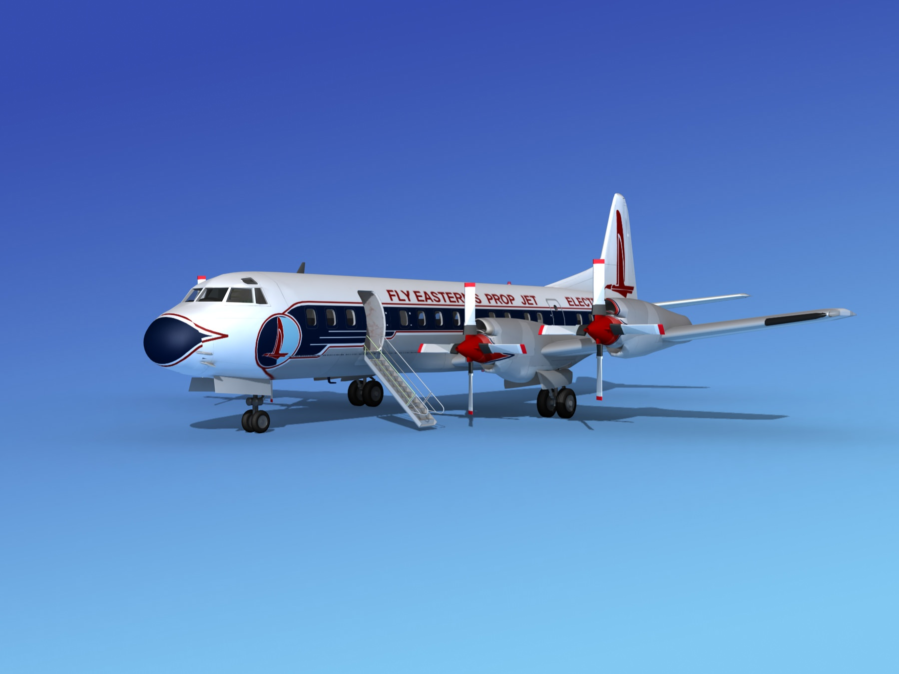 Lockheed L-188 Electra HP Eastern Airlines 1 | 3D model
