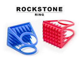 rockstone ring - size 8 3d printable model