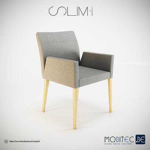 Mobitec Slim Chair 3D Model