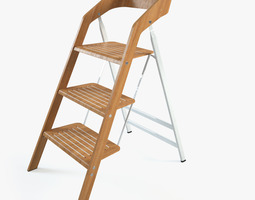 vintage usit stepladder chair 3-step version 3d