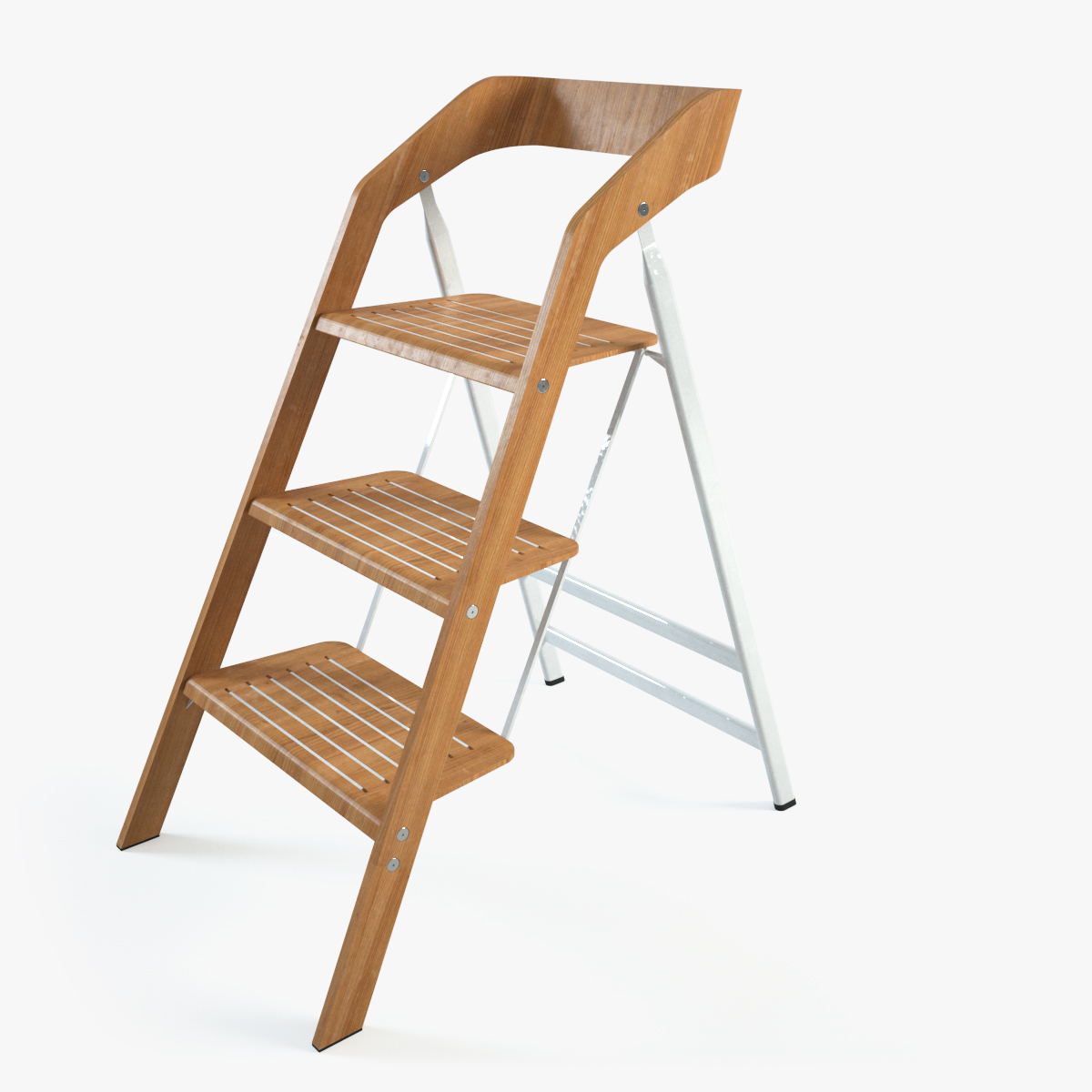 vintage usit stepladder chair 3-step version 3d model max 1 ...