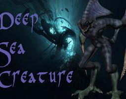 3d asset 3d printable model deep-sea-creature realtime