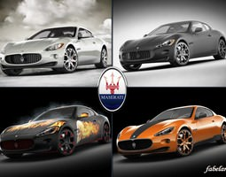 Maserati GT collection 3D Model
