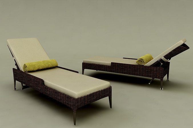 day bed 3d model max 1