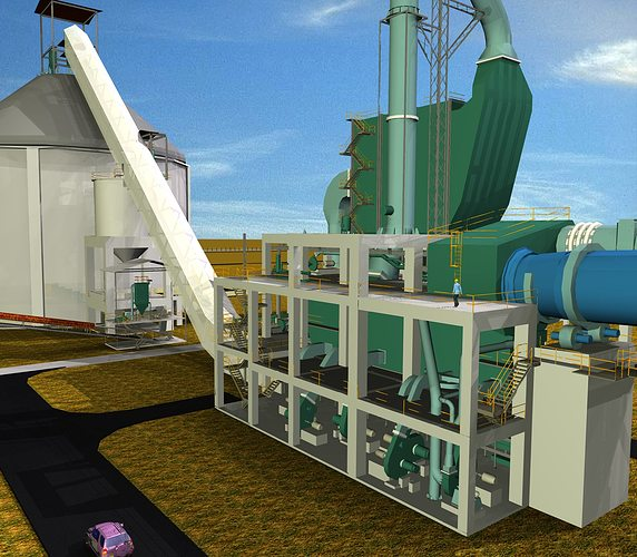 Huge Cement Plant : Cooler electrostatic precipitator cement plant free d