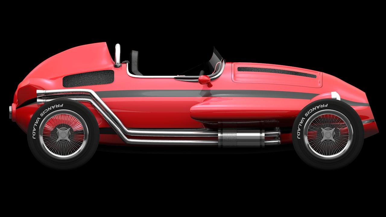FV CAR Free 3D Model OBJ 3DS C4D DAE
