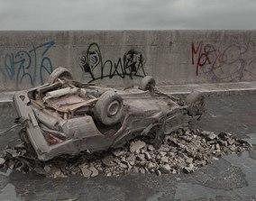 destroyed car 073 am165 3D model