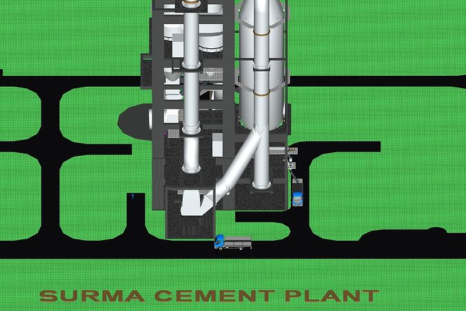 Surma Cement Plant Cyclone Preheater 3d Cgtrader