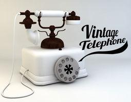 Vintage telephone 3D