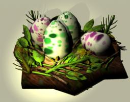 Dinosaur Nest Eggs 3D model