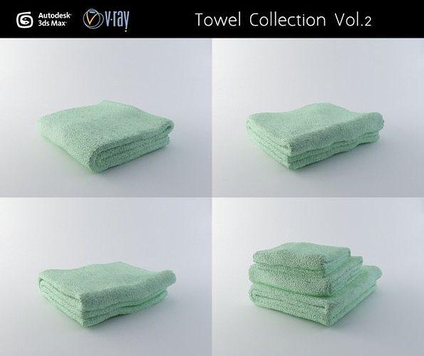 towel collection vol 2 3d model max obj mtl 1
