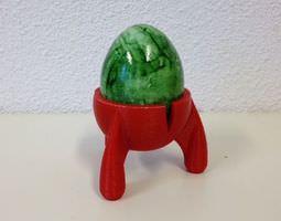 3d print model space egg egg holder egg cup easter season