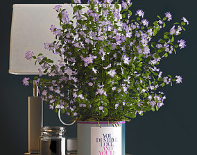 3D model Decorative vase set bouquet